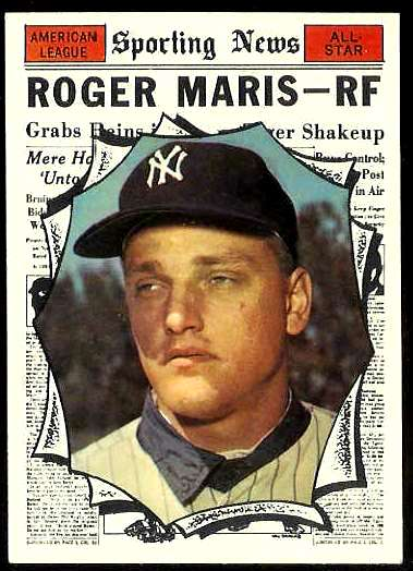 1961 Topps #576 Roger Maris All-Star SCARCE HIGH #.(Yankees) Baseball cards value