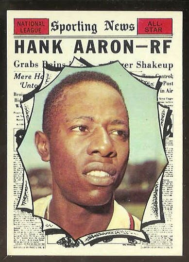 1961 Topps #577 Hank Aaron All-Star SCARCE HIGH #.[#b] (Braves) Baseball cards value