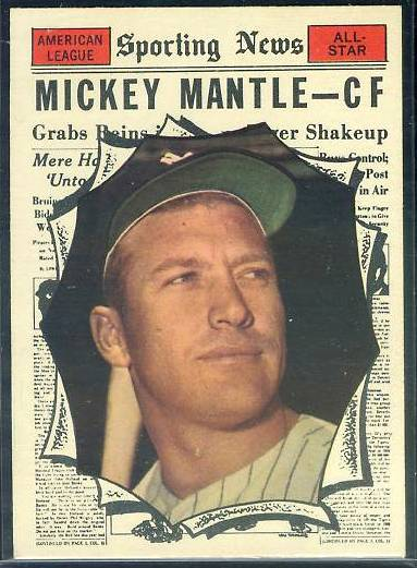 1961 Topps #578 Mickey Mantle All-Star SCARCE HIGH #.(Yankees) Baseball cards value
