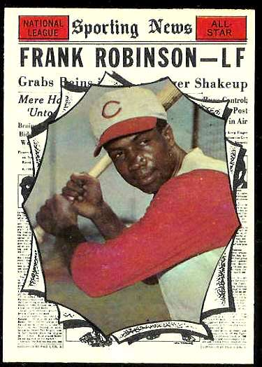 1961 Topps #581 Frank Robinson All-Star SCARCE HIGH #.[#a] (Orioles) Baseball cards value