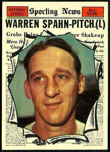 1961 Topps #589 Warren Spahn All-Star SCARCE HIGH #.(Braves) Baseball cards value