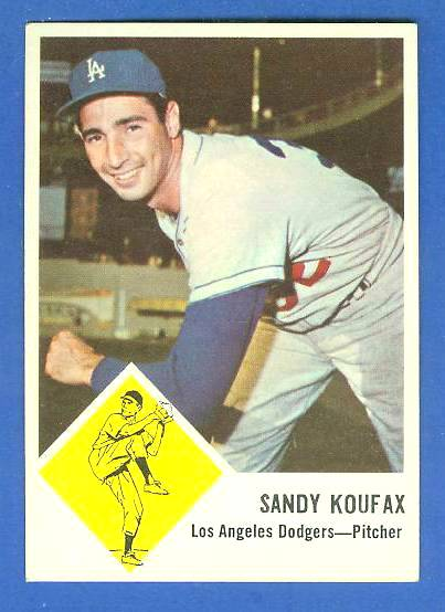 1963 Fleer #42 Sandy Koufax (Dodgers) Baseball cards value