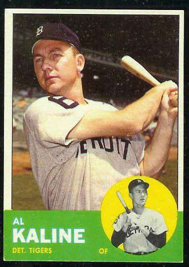 1963 Topps #.25 Al Kaline [#a] (Tigers) Baseball cards value