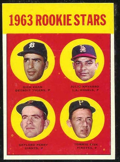 1963 Topps #169 Gaylord Perry '1963 Rookie Stars' [#a] Baseball cards value