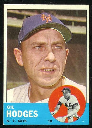 1963 Topps #245 Gil Hodges [#a] (Mets) Baseball cards value