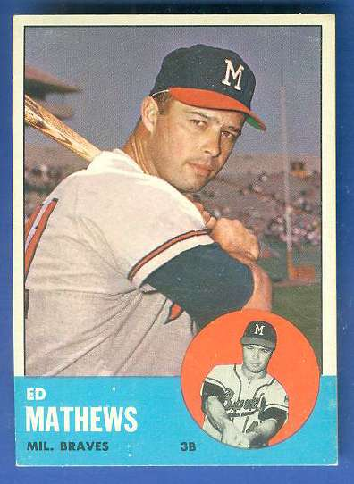1963 Topps #275 Ed Mathews [#c] (Braves) Baseball cards value