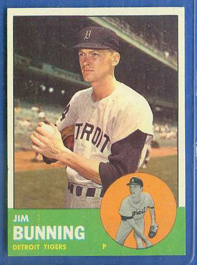 1963 Topps #365 Jim Bunning [#a] (Tigers) Baseball cards value