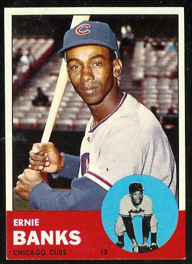 1963 Topps #380 Ernie Banks [#a] (Cubs) Baseball cards value