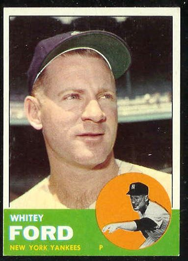 1963 Topps #446 Whitey Ford (Yankees) Baseball cards value