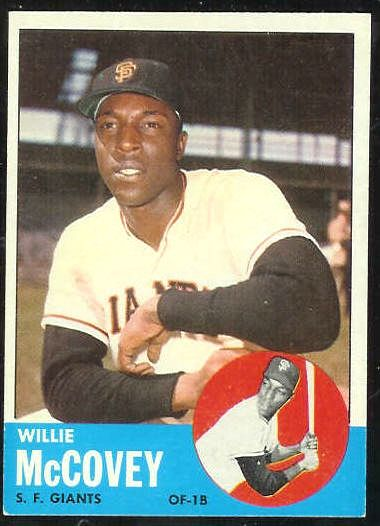 1963 Topps #490 Willie McCovey SCARCEST MID SERIES [#a] (Giants) Baseball cards value
