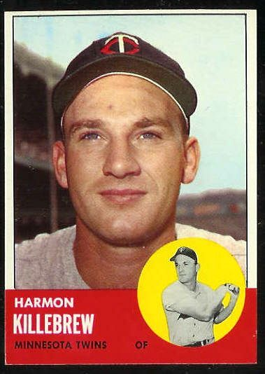 1963 Topps #500 Harmon Killebrew SCARCE SHORT PRINT [#a] (Twins) Baseball cards value