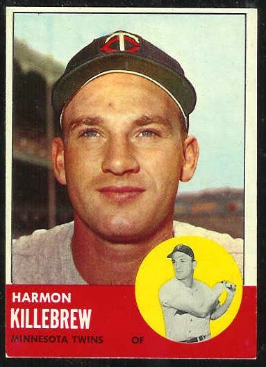 1963 Topps #500 Harmon Killebrew SCARCE SHORT PRINT [#b] (Twins) Baseball cards value