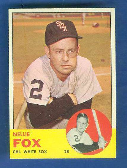 1963 Topps #525 Nellie Fox SCARCE HIGH SERIES [#a] (White Sox) Baseball cards value