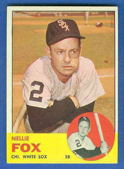 1963 Topps #525 Nellie Fox SCARCE HIGH SERIES [#c] (White Sox) Baseball cards value