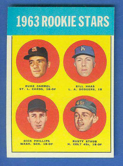 1963 Topps #544 Rusty Staub ROOKIE SCARCE HIGH SERIES [#a] (Colt 45s/Astros Baseball cards value