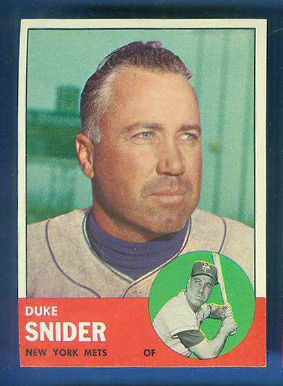 1963 Topps #550 Duke Snider SCARCE HIGH SERIES [#a] (Mets) Baseball cards value