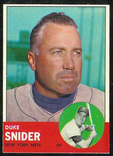 1963 Topps #550 Duke Snider SCARCE HIGH SERIES [#b] (Mets) Baseball cards value