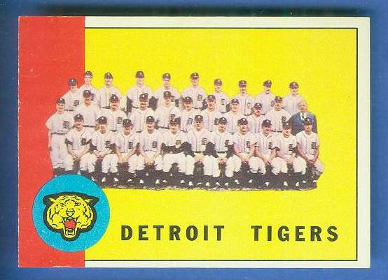 1963 Topps #552 Tigers TEAM card [#a] SCARCE HIGH SERIES Baseball cards value