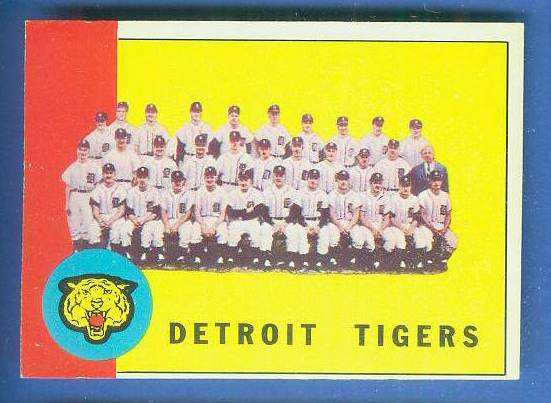 1963 Topps #552 Tigers TEAM card [#b] SCARCE HIGH SERIES Baseball cards value