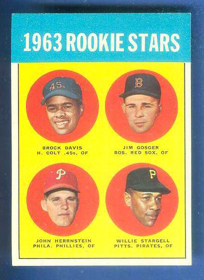 1963 Topps #553 Willie Stargell [#a] ROOKIE SCARCE HIGH SERIES (Pirates) Baseball cards value