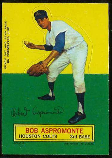 1964 Topps Stand-Ups/Standups - Bob Aspromonte [#a] (Houston Colts/Astros) Baseball cards value
