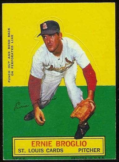 1964 Topps Stand-Ups/Standups - Ernie Broglio [#b] (Cardinals) Baseball cards value