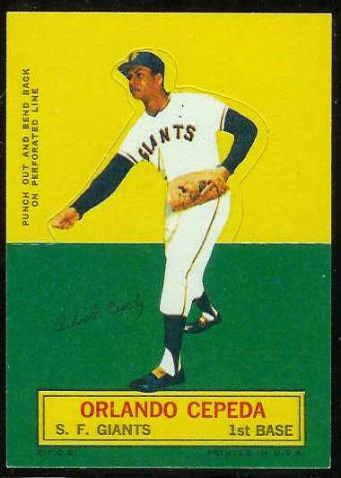 1964 Topps Stand-Ups/Standups - Orlando Cepeda [#a] (Giants) Baseball cards value