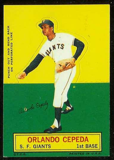 1964 Topps Stand-Ups/Standups - Orlando Cepeda [#c] (Giants) Baseball cards value