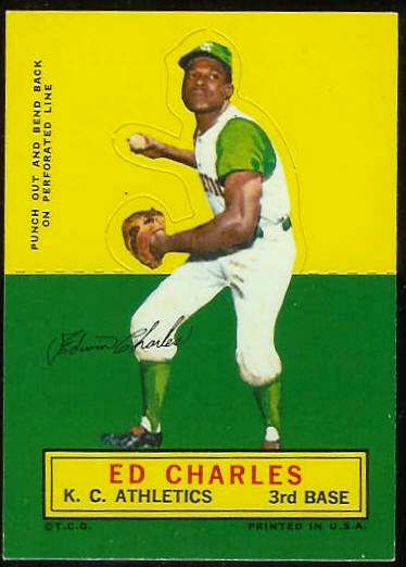 1964 Topps Stand-Ups/Standups - Ed Charles [#a] (Kansas City A's) Baseball cards value
