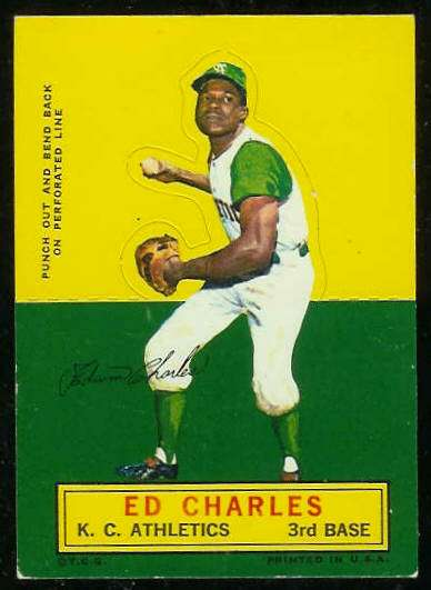 1964 Topps Stand-Ups/Standups - Ed Charles [#c] (Kansas City A's) Baseball cards value