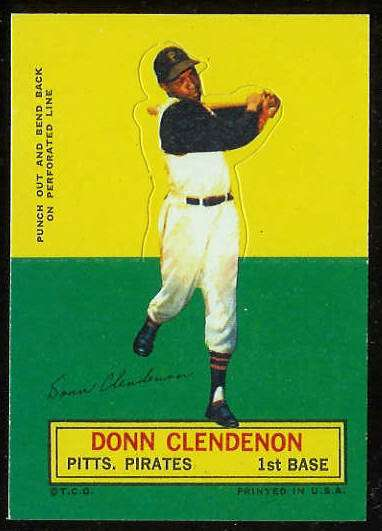 1964 Topps Stand-Ups/Standups - Donn Clendenon SHORT PRINT [#a] (Pirates) Baseball cards value
