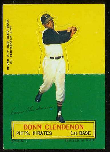 1964 Topps Stand-Ups/Standups - Donn Clendenon SHORT PRINT [#b] (Pirates) Baseball cards value