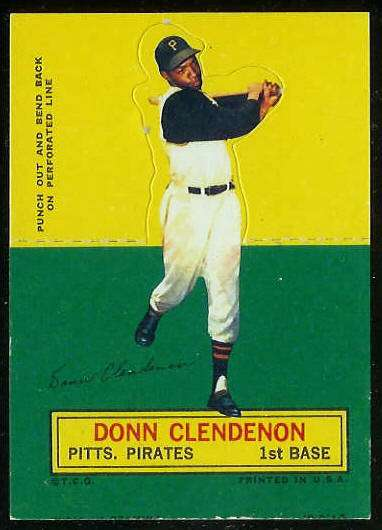 1964 Topps Stand-Ups/Standups - Donn Clendenon SHORT PRINT [#d] (Pirates) Baseball cards value