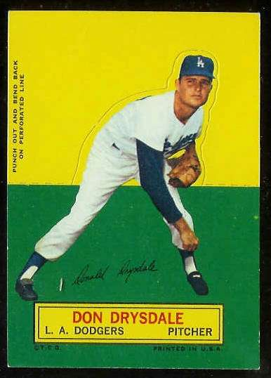 1964 Topps Stand-Ups/Standups - Don Drysdale SHORT PRINT (Dodgers) Baseball cards value