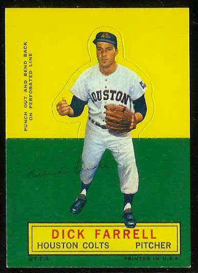 1964 Topps Stand-Ups/Standups - Dick Farrell [#b] (Houston Colts/Astros) Baseball cards value