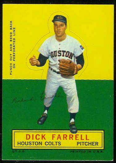1964 Topps Stand-Ups/Standups - Dick Farrell [#c] (Houston Colts/Astros) Baseball cards value