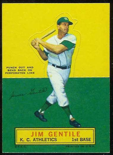 1964 Topps Stand-Ups/Standups - Jim Gentile [#a] (Kansas City A's) Baseball cards value
