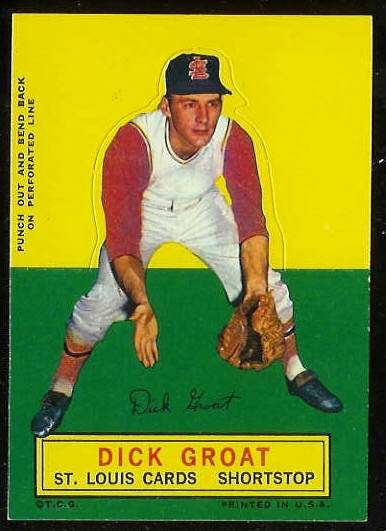 1964 Topps Stand-Ups/Standups - Dick Groat [#a] (Cardinals) Baseball cards value