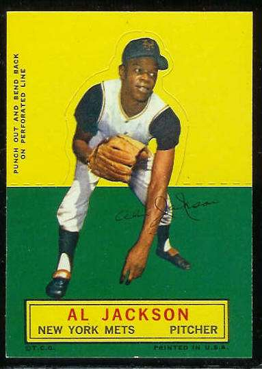 1964 Topps Stand-Ups/Standups - Al Jackson [#a] (Mets) Baseball cards value