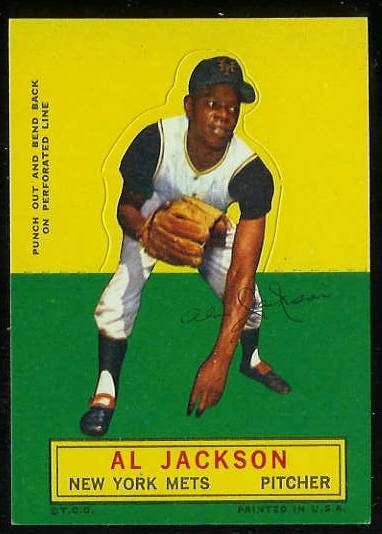 1964 Topps Stand-Ups/Standups - Al Jackson [#d] (Mets) Baseball cards value