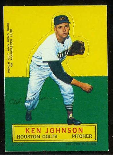 1964 Topps Stand-Ups/Standups - Ken Johnson [#a] (Houston Colts/Astros) Baseball cards value