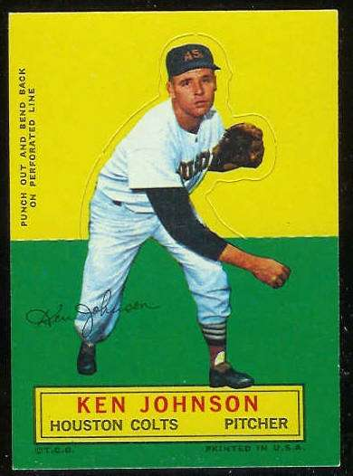 1964 Topps Stand-Ups/Standups - Ken Johnson [#b] (Houston Colts/Astros) Baseball cards value