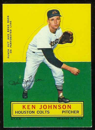 1964 Topps Stand-Ups/Standups - Ken Johnson [#c] (Houston Colts/Astros) Baseball cards value
