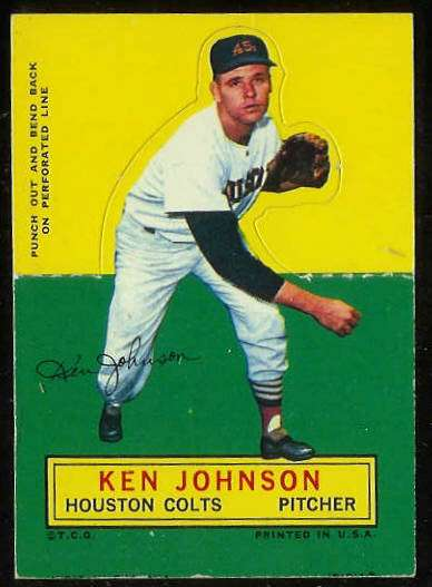 1964 Topps Stand-Ups/Standups - Ken Johnson [#d] (Houston Colts/Astros) Baseball cards value