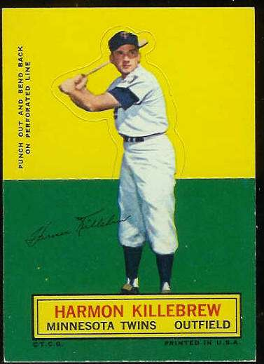 1964 Topps Stand-Ups/Standups - Harmon Killebrew [#a] (Twins) Baseball cards value