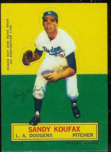 1964 Topps Stand-Ups/Standups - Sandy Koufax [#b] (Dodgers) Baseball cards value