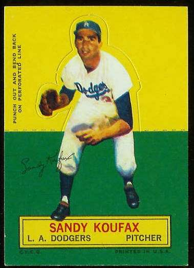 1964 Topps Stand-Ups/Standups - Sandy Koufax [#c] (Dodgers) Baseball cards value