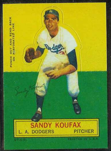 1964 Topps Stand-Ups/Standups - Sandy Koufax [#d] (Dodgers) Baseball cards value