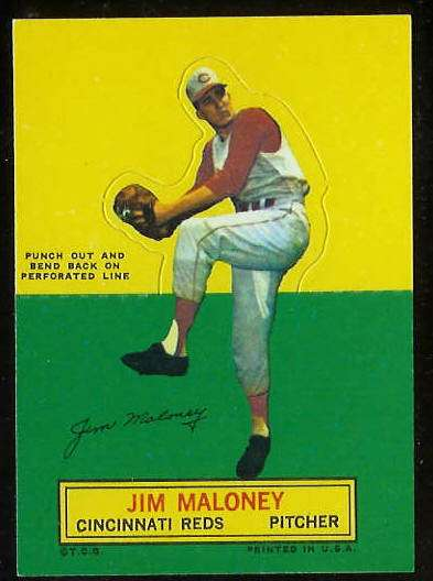 1964 Topps Stand-Ups/Standups - Jim Maloney [#a] (Reds) Baseball cards value