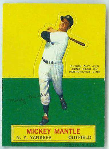 1964 Topps Stand-Ups/Standups - Mickey Mantle [#a] (Yankees) Baseball cards value
